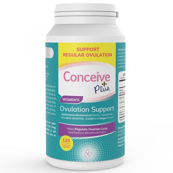 Conceive Plus women ovulation vitamins natural support for PCOS and fertility issues of ovulating regular cycles